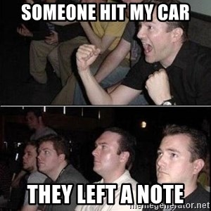 Reaction Guys - Someone hit my car They Left a note
