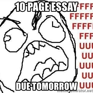Fuuu - 10 page essay due tomorrow