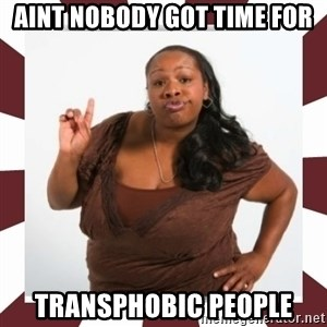 Sassy Black Woman - aint nobody got time for transphobic people