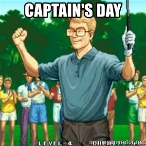 Happy Golfer - CAPTAIN'S DAY