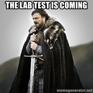 ned stark as the doctor - The lab test is coming