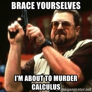 i'm the only one - brace yourselves i'm about to murder calculus