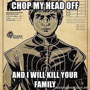 Child queen Phlash Misericord - chop my head off and i will kill your family