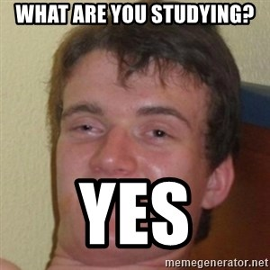 10guy - what are you studying? yes