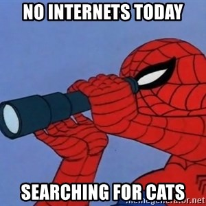 Spiderman Lunar Eclipse - no internets today searching for cats