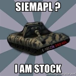 TERRIBLE E-100 DRIVER - SiemaPL ? I am stock