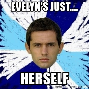 LULIC - EVELYN'S JUST.... HERSELF