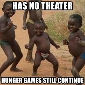 african children dancing - has no theater hunger games still continue