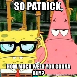 Serious Spongebob - So Patrick, How much weed you gonna buy?