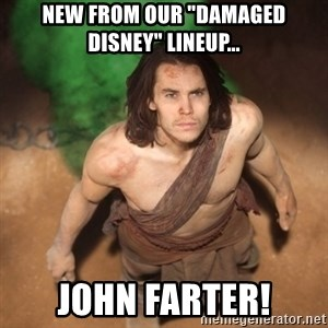 "John Farter - New from our ""Damaged Disney"" lineup... John Farter!"