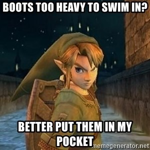 Laughable Link - Boots Too Heavy To Swim In? Better Put Them In My Pocket