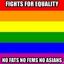 You're Probably Gay - fights for equality no fats no fems no asians