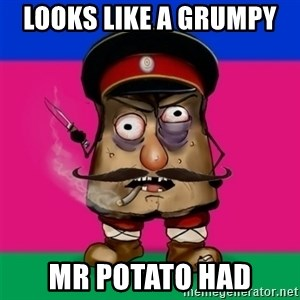 malorushka-kuban - LOOKS LIKE A GRUMPY  MR POTATO HAD