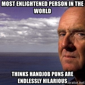 Colin McGinn - most enlightened person in the world  thinks handjob puns are endlessly hilarious