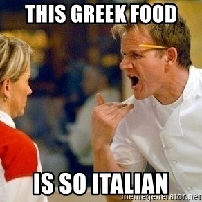 dave gordon ramsay - this greek food  is so italian