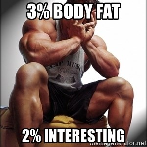 Fit Guy Problems - 3% body fat 2% interesting