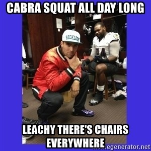 PAY FLACCO - CABRA SQUAT ALL DAY LONG LEACHY THERE'S CHAIRS EVERYWHERE