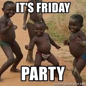 african children dancing - It's friday party