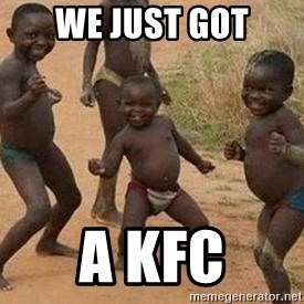 african children dancing - we just got a kfc