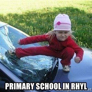 Angry Karate Girl -  primary school in rhyl
