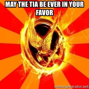 Typical fan of the hunger games - May the tia be ever in your favor
