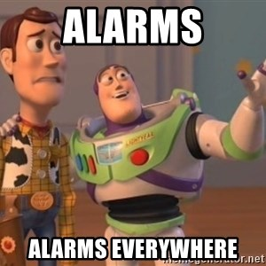 buzz light - Alarms Alarms Everywhere
