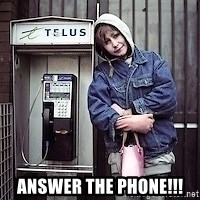 ZOE GREAVES TIMMINS ONTARIO -  ANSWER THE PHONE!!!