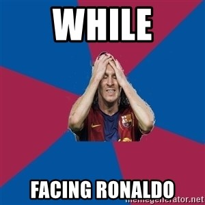Lionel Messi Problems - while facing ronaldo