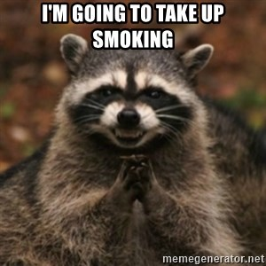plotRacoon - I'm going to take up smoking