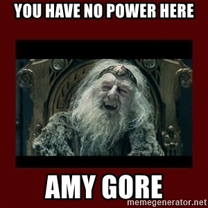 King Theoden - YOU HAVE NO POWER HERE AMY GORE