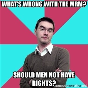 Privilege Denying Dude - What's wrong with the MRM? Should men not have rights?