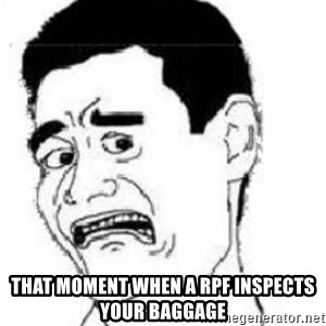 scared yaoming -  that moment when a RPF inspects your baggage