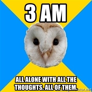 Bipolar Owl - 3 AM All alone with all the thoughts. ALL OF THEM.