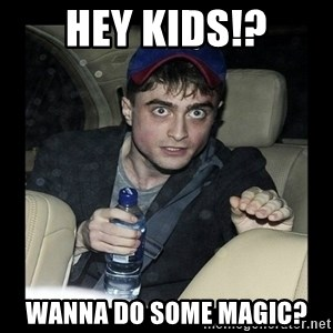 Daniel Radcliffe Ablaze - Hey kids!? wanna do some magic?