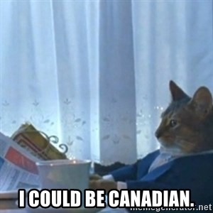 Sophisticated Cat Meme -  I could be Canadian.