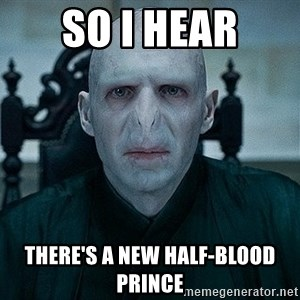 Voldemort - So I hear There's a new half-blood prince