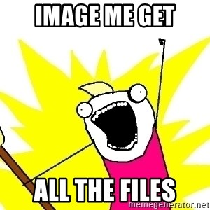 X ALL THE THINGS - image me get all the files