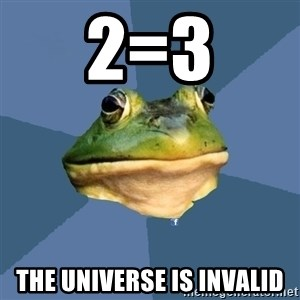 FACEBOOK FROG - 2=3 the universe is invalid