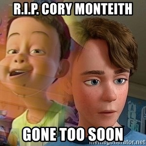 PTSD Andy - R.I.P. Cory Monteith Gone too soon