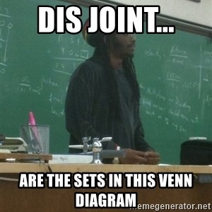 rasta science teacher - DIS JOINT... are the sets in this venn diagram