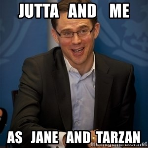 Katainen Perkele - Jutta   and    me as   Jane   and  Tarzan