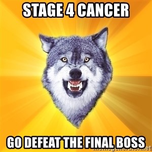 Courage Wolf - stage 4 cancer go defeat the final boss