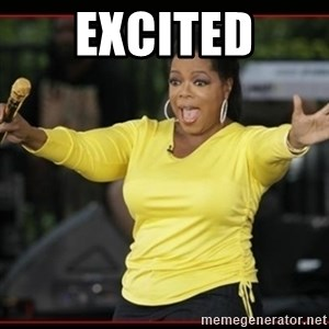 Overly-Excited Oprah!!!  - EXCITED