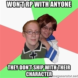 Hetalia Fans - Won't rp with anyone they don't ship with their character