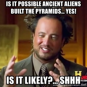Giorgio A Tsoukalos Hair - is it possible ancient aliens built the pyramids... yes! is it likely?... shhh