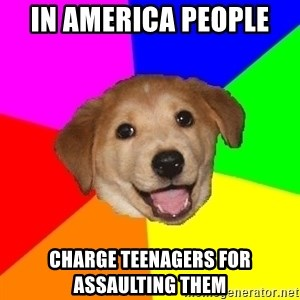 Advice Dog - in america people  charge teenagers for assaulting them
