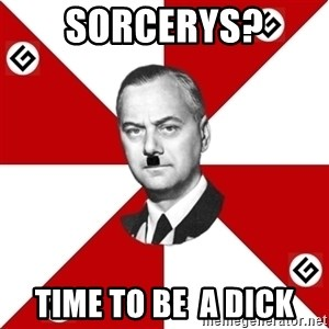 TheGrammarNazi - sorcerys? time to be  a dick