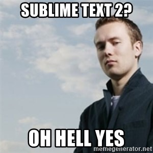 SMUG DHH - sublime text 2? OH HELL YES
