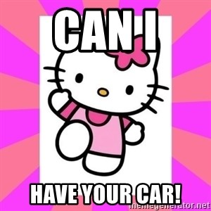 Hello Kitty - can I  have your car!