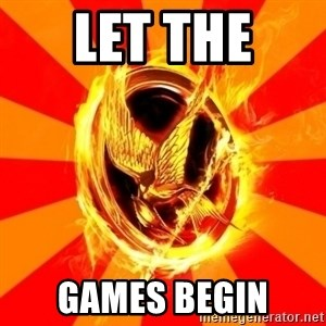 Typical fan of the hunger games - let the  games begin